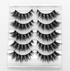 NEW5 pairs of 3D mink eyelashes natural eyelashes thick and long false makeup extension handmade eyelash comb