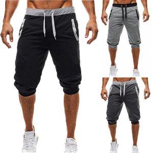 2020 Erkekler buzağı uzunlukta pantolon hirigin gri siyah pantolon harem Erkek Casual hip hop pantolon Sweatpants Koşucular Pantolon karıştırmak cototon