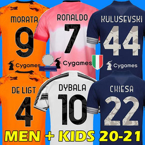Human Race JUVENTUS 4th maillot de football quatrième football HRFC chemises RONALDO DE LIGT 20 21 DYBALA 2020 2021 JUVE hommes enfants kit garçon ensembles