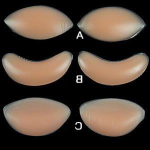 Poitrine de poulet Pad Filets mammaires en silicone exhausteurs Soutien-gorge Insert Pad OPP Sac Paquet mammaires en silicone Pad
