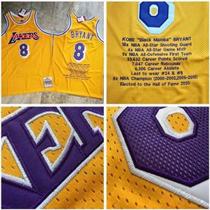 Men LosAngelesLakersKobeBryantMitchell & Ness 1996-97 yellow Hardwoods Classics Player Jersey and pant