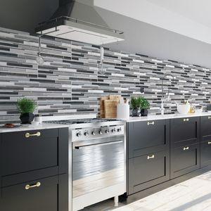 Premium Mosaic Tiles Sticker Self Adhesive PVC 2D Waterproof Wallpaper Sticker DIY Home Decor Kitchen Bathroom Toilet Tile Wall Paper
