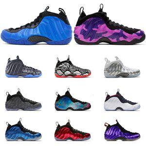 2019 Men basketball shoes AirFoampositePro PURPLE CAMO white CNY TECH FLEECE USA RUST PINK ROYAL BULE sports sneakers size 7-13