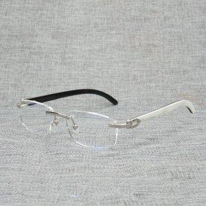 Finger Buffalo Clear Read Optical Eyes For Horn Oversize Random Glass Square Frame Women Wood Men Oval Natural Xjccg