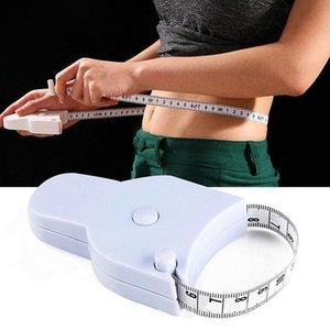 1.5M Spor Doğru Vücut Yağ kaliper Ölçme Vücut Teyp Cetvel Tedbir Mezro Beyaz Vücut Yağ kaliper Bel Mezro DHC2963