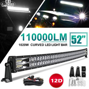 """CO LIGHT New 12D LED Light Bar 22"""" 32"""" 42"""" 52"""" 2-Rows Combo LED Bar Work for Trucks Car Tractors Offroad SUV 4WD 4x4 Boat"""