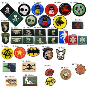 Outdoor Patches HOOK and LOOP Fastener Rubber Plastic Badges Armband Stickers Tactical PVC Patch