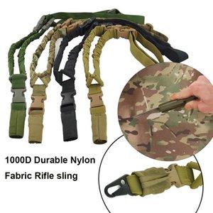 1000D нейлон Тактических ружей пистолет Водонепроницаемый и прочный 1 одноточечный плечевой ремень строп для Открытого Охота CS Косплея Игры