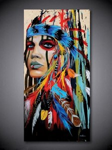 2. Framed &Unframed High Quality Handpainted &HD Abstract Indian Portrait Art Oil Painting On Canvas For Wall Decor in Multi Sizes SA328