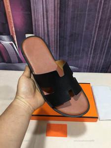 Hermes slippers 2021 Neue Mode H Hausschuhe ProGettista Lusso Men Echtes Leder Sandalen Indoor Outdoor Männer Rutsche Krokodil Leder Panel 38 Farbschuhe