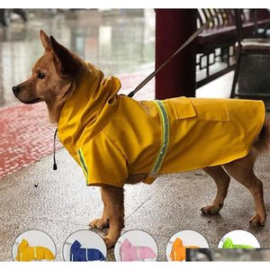 pet dog reflective waterproof raincoat safe walk the dog raincoats outwears dog clothes pet dogs accessories drop ship 360052 DtiEK
