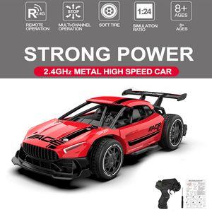 Cars brillant RC Cars Radio Contrôle de la radio 2.4g 4CH Jouets de voiture de course pour enfants 1:24 Haute vitesse Mini RC Drift Raccour de voiture