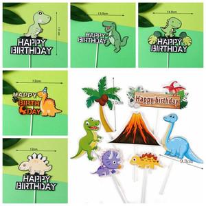 Dinosaur Cake Toppers Jungle Safari Birthday Party Cake Decor 1st Birthday Dino Decor Happy Party Kids Boy