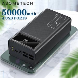 قوة البنك 50000mAh شاحن محمول LED ضوء Poverbank تجدد powerbank 50000 ماه البطارية الخارجية لجميع فون