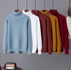 2020 Autumn Turtleneck Sweater Women Causal Solid Long Sleeve Knitted Pullovers Winter Soft Warm Slim Female Knitwear Jumper