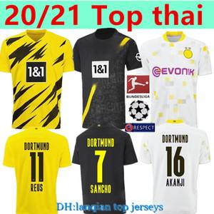 New 20 21 thai #11 REUS HAALAND REYNA Home BELLINGHAM Soccer Jersey 20 21 HAZARD BRANDT REUS MOUKOKO WITSEL Away Third Jersey Soccer Wear