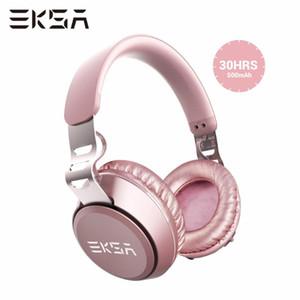 EKSA filaire + Casque sans fil Bluetooth 5.0 E100 Casque hi-fi portable Casque stéréo sans fil avec micro mains libres pour téléphone