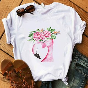 Red High Heel T Shirt Lady Make Up Paris Style T Shirt Women Summer Short Tops Girl Hipster shirts