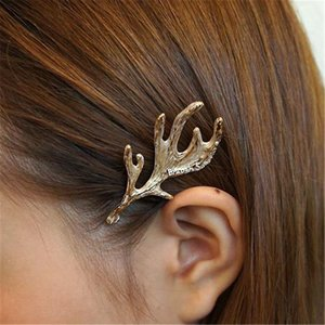 Art und Weise 1pc Legierung Metall Deer Ear Hairpin Antlers Clip Spangen Lady Haarnadeln Frauen Haarschmuck