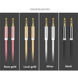 High quality 3.5 mm Jack Aux Cable Male to Male Audio Cable Adapter 3.5 mm Auxiliary Cord for MP3 MP4 Headphone Car Speak