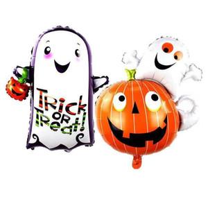1pcs Large Ghost Pumpkin Aluminum Film Balloon Ghost Lantern Foil Helium Balloon Halloween Party Funny Decoration