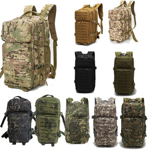 Outdoor Sports Pack Hiking Bag Tactical Rucksack Camo Knapsack Combat Camouflage Tactical Molle Backpack P11-046