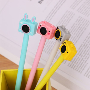 40 pcs camera gel creative student stationery cute ink pen black office factory outlet 201202