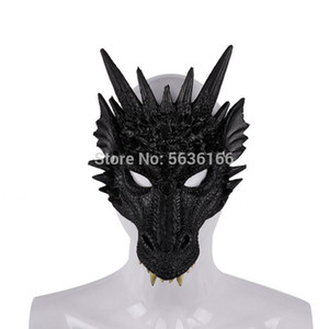 Kids adult Halloween Decoration Carnival Party Costume Dragon Cosplay Masquerade PU foaming 3D animal dragon mask
