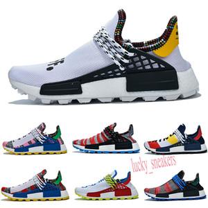 wholesale 2019 pharrell williams human race races tennis men Athletic shoes woman sample yellow Core Black Nerd Black sneakers 36-47 l56