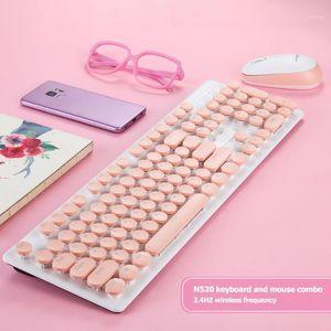 Mechanische Gefühl Optische Gaming-Tastatur-Combos Set N520 2.4GHz Wireless Maus für Haushaltscomputerzubehör1