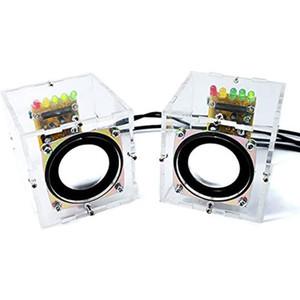 Mini Electronic Transparent Stereo Speaker Box DIY Kit Sound for Arduino EK1831