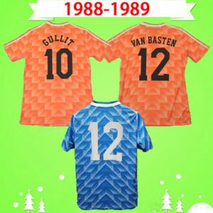 Retro 1988 1989 Hollanda Soccer Jersey Vintage Hollanda Futbol Gömlek 88 89 Vanenburg Mühren Kış Van Aerale Van Bastten Gullit Boşman