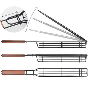 50pcs DHL Outdoor Cooking Barbecue Baskets BBQ Grill Net Tools Barbecue Basket Barbecue Clip Grill Baskets Good Quality