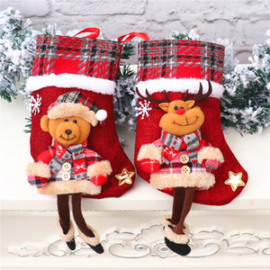 New Arrival Christmas Stockings Decor Ornament Party Decorations Santa Christmas Stocking Candy Socks Bags Xmas Gifts Bag DBC BH4193