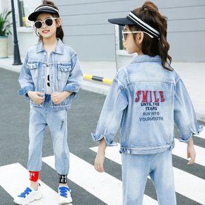 Girl Boy Jacket Autumn Smile Unisex Autumn Spring Winter Child Denim Cloth Teen Outerwear