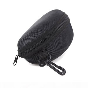 Wholesale Black Sunglasses Box with hook Hanger Zipper Glasses Case for Big Frame Hot Sale free shipping