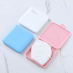 Portable Mask Box Storage Dustproof Face Shield Moisture Proof Container Disposable Face Mouth Cover Holder Masks Storage Case LJJP599