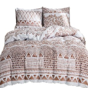 Bed Sheet Sets Fitted Flat Sheets 3 pcs Brown Twin Double Queen King Bedding Sets Teenager Kids Quilt Cover Bed Pillowcases