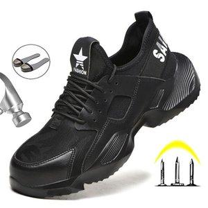 Manlegu New Trabajo Indestructible Hombre Sneakers de Invierno Zapatos transpirables Boot Boot Y200915