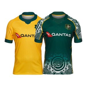2020 2021 AUSTRALIAS RUGBY HOME AND AWAY JERSEY Size: S-5XL Print custom name number The quality is perfect. Free Delivery