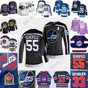 Winnipeg Jets Buz Hokeyi Jersey Kyle Connor Anton Forsberg Mark Scheifele Blake Wheeler Nikolaj Ehlers Pionk Morrissey Appleton Beaulieu