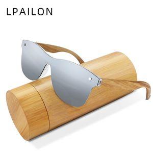 LPAILON Natural Wooden Sunglasses Men Polarized Fashion Sun Glasses Original Wood Oculos de sol masculino 1504