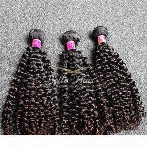 10-24 pulgadas 4 unids Exenciones de cabello humano Calidad Calidad Malasia Grado de pelo 9A Natural Negro Negro Rizado Tronco Envío gratis