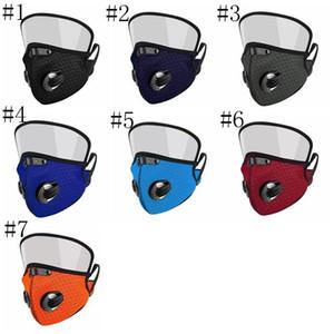 2 Göz Kalkanı toz geçirmez Yıkanabilir Pamuk valf ile 1 Yüz Mask olarak Bisiklet Yeniden kullanılabilir Yüz Koruyucu Yüz Shield Maskesi