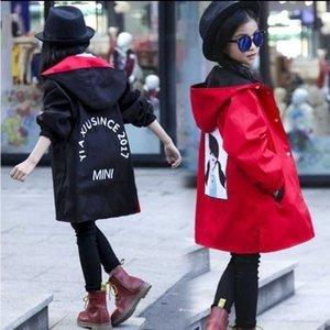 Девушки Пальто 3-14 лет Одежда Длинные двусвязные ветровая куртка корейская версия маленькой девочки куртка прилив девушка куртка 201106