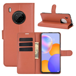 Litchi Pattern Flip PU Leather Wallet Case For Huawei NOVA 8SE Mate 40 Honor 10X Lite Y9A Y7A P Smart 2021 Enjoy 20 Pro+ Pro Plus Y8S