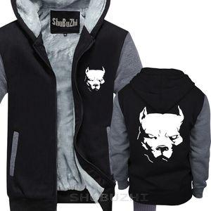 männlich lustig vorhanden PITBULL American Pit Bull Spiked Hundehalsband Mens warmer Mantel Männer dicke Jacke Print Cotton warmen Mantel sbz5188 X1022