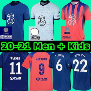 CFC PULISIC ZIYECH HAVERTZ Кант WERNER ABRAHAM Chilwell MOUNT Жоржиий футбол Джерси 2020 2021 Жир футбол рубашка 20 21 мужчин + дети комплект