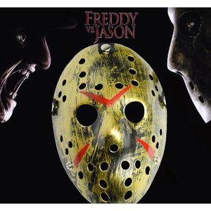 Retro Jason Mask Horror Funny Full Face Mask Bronze Halloween Cosplay Costume Masquerade Masks Scary Hockey Mask Pa jllbse sinabag