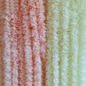1mètre / PC Flowers String Artificielle Silk Hydrangea Orchidée Wisteria Fleurs pour Arche De Wedding Rattan Party Table Chair Decorations1